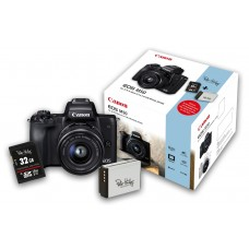 Canon EOS M50 m/15-45mm Sort KIT+Batt+32 GB SD