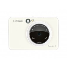 Canon Zoemini S pearl white instant camera