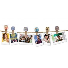 Fuji Instax design clips CAMERA wooden clothespins