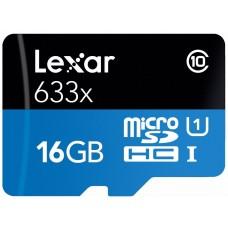Lexar Micro SD  16 GB 633x 95 MB/S m/sd adapter - MicroSD