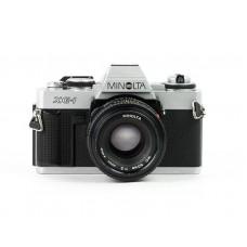 Minolta XG-1 m/50mm F/2 - Brugt - 6 mdr. Garanti