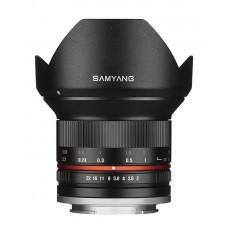 Samyang 12 mm f/2,0 Canon M Sort  - EOS M