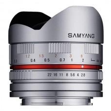 Samyang 8 mm f/2,8 II Canon M Silver