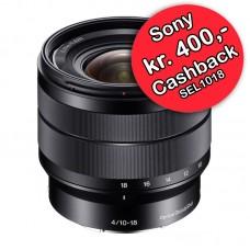 Sony 10-18 F4,0 SEL1018 + Protector Filter U/B - Cashback 400,-